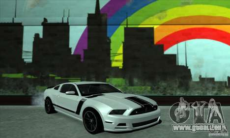 Ford Mustang Boss 302 2013 pour GTA San Andreas vue arrière