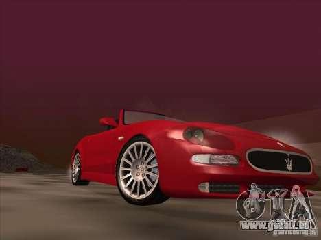 Maserati Spyder Cambiocorsa pour GTA San Andreas vue de dessous