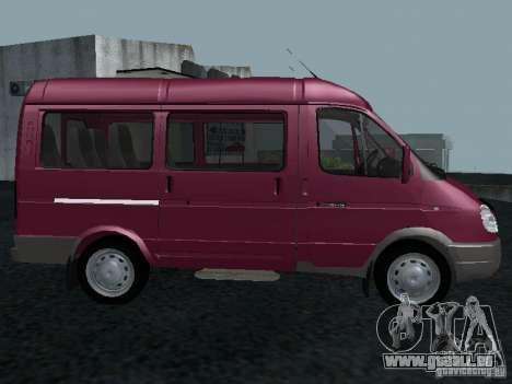 GAZ 2217 Sobol pour GTA San Andreas laissé vue