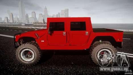 Hummer H1 4x4 OffRoad Truck v.2.0 pour GTA 4 est une vue de l'intérieur