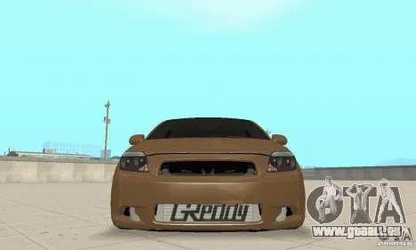 Toyota Scion tC Edited pour GTA San Andreas vue arrière