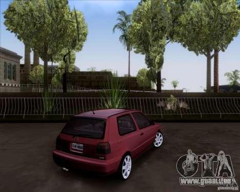 Volkswagen Golf MK3 VR6 pour GTA San Andreas laissé vue