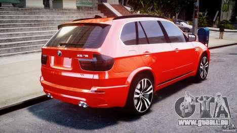 BMW X5M Chrome pour GTA 4 Vue arrière de la gauche