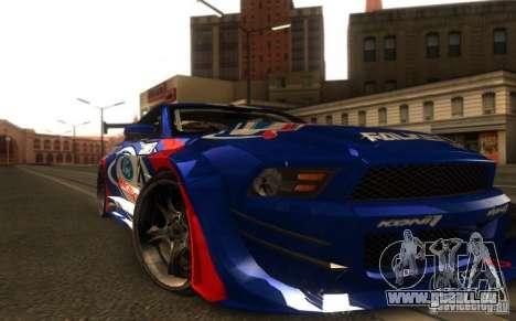 Ford Mustang Shelby GT500 V1.0 für GTA San Andreas zurück linke Ansicht