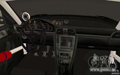 Porsche 997 Rally Edition pour GTA San Andreas vue de dessus