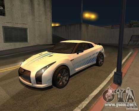 Nissan GT-R Pronto pour GTA San Andreas vue intérieure