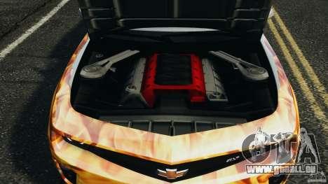 Chevrolet Camaro ZL1 2012 v1.0 Flames pour GTA 4 Salon