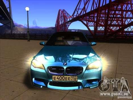 BMW 535i F10 pour GTA San Andreas vue de droite