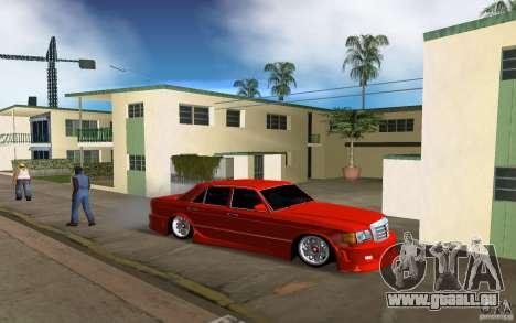 Mercedes-Benz W126 Wild Stile Edition pour GTA Vice City sur la vue arrière gauche