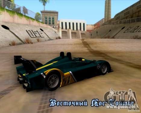 Caterham Lola SP300R pour GTA San Andreas vue de côté