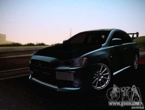 Mitsubishi Lancer Evolution Drift Edition für GTA San Andreas Innenansicht