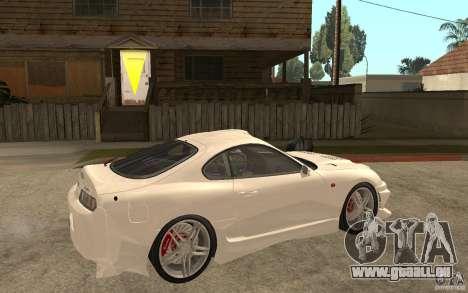 Toyota Supra Tunable pour GTA San Andreas vue de droite