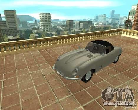 Jaguar E-Type 1963 pour GTA San Andreas vue de droite