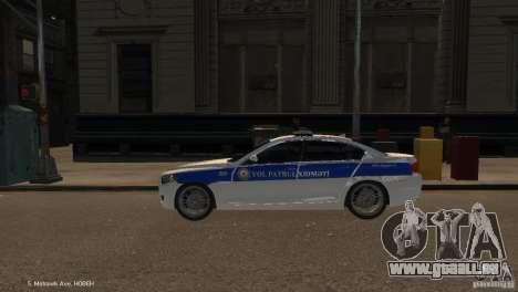 BMW 550i Azeri Police YPX pour GTA 4 est une gauche