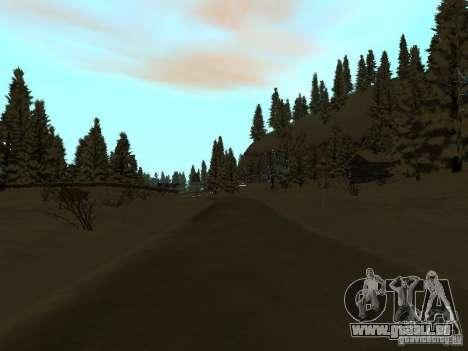 Sentier d'hiver pour GTA San Andreas huitième écran