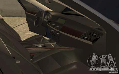 BMW X5 M 2009 pour GTA San Andreas vue intérieure
