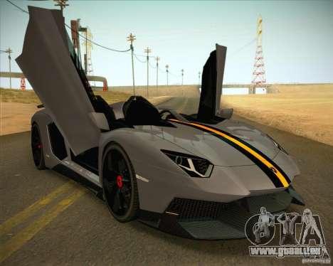 Lamborghini Aventador J pour GTA San Andreas sur la vue arrière gauche
