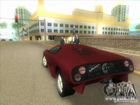 Infernus de GTA IV pour une vue GTA Vice City de la droite