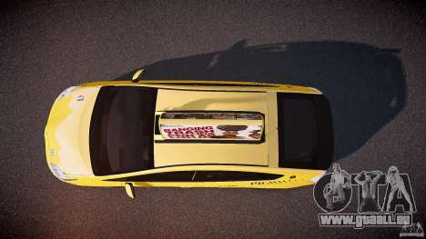 Toyota Prius LCC Taxi 2011 pour GTA 4 est un droit