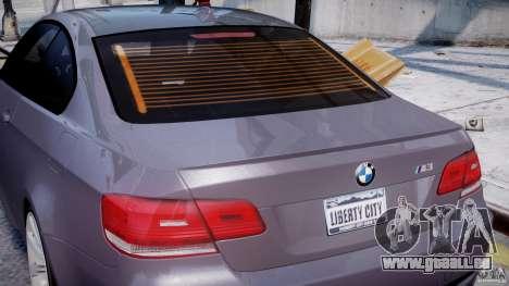 BMW M3 E92 stock pour GTA 4 roues