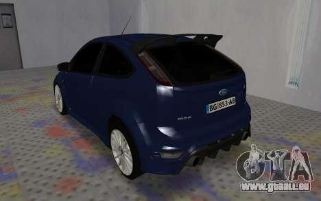 Ford Focus RS pour GTA San Andreas vue de droite