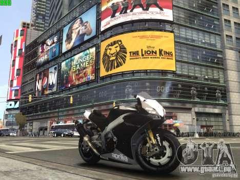 Aprilia RSV-4 Black Edition pour GTA 4 est une gauche