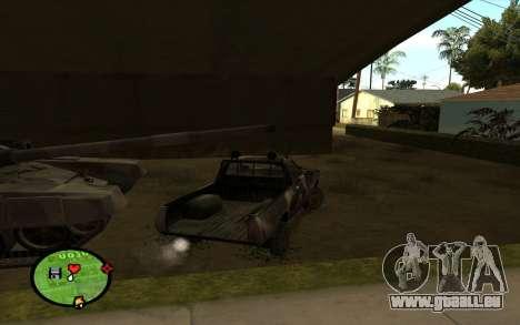 DATSUN 620 pour GTA San Andreas sur la vue arrière gauche