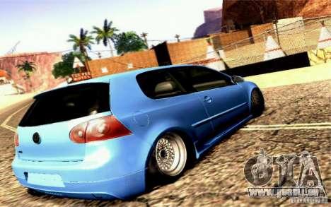 Volkswagen Golf GTI pour GTA San Andreas laissé vue