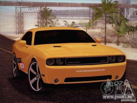 Dodge Challenger SRT8 2010 pour GTA San Andreas vue intérieure