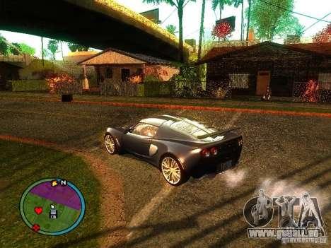 Lotus Exige - Stock pour GTA San Andreas vue de droite