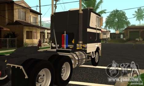 Peterbilt 362 Cabover pour GTA San Andreas vue de droite