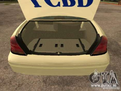 Ford Crown Victoria 2003 Police pour GTA San Andreas vue intérieure