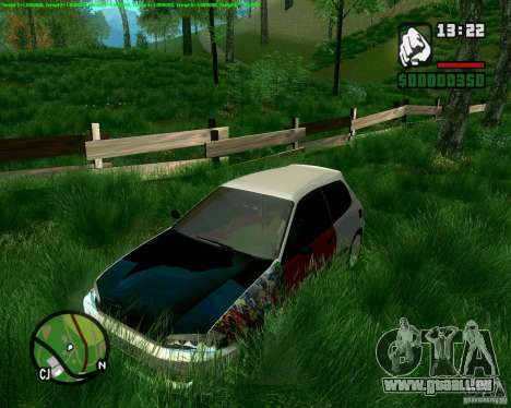 Honda Civic Hellaflush für GTA San Andreas