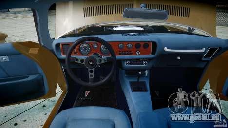 Pontiac Firebird 1970 für GTA 4 Seitenansicht