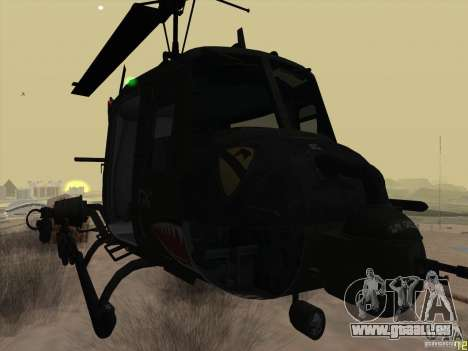 Hélicoptère Huey de l'appel du devoir de black o pour GTA San Andreas vue de droite