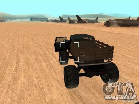 Walton Monster pour GTA San Andreas sur la vue arrière gauche