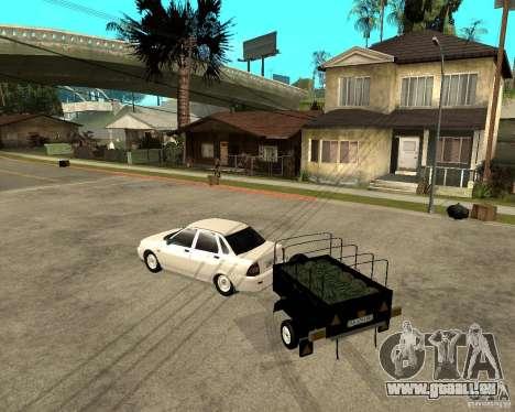 LADA 2170 Priora Light tuning und trailer für GTA San Andreas linke Ansicht