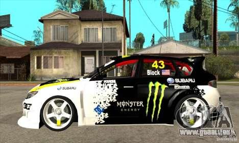 Subaru Impreza 2009 (Ken Block) pour GTA San Andreas laissé vue