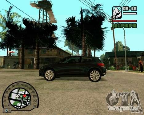 Volswagen Scirocco pour GTA San Andreas vue de droite
