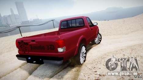 Ford Ranger pour GTA 4 Vue arrière de la gauche