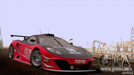 McLaren MP4-12C Speedhunters Edition pour GTA San Andreas vue intérieure