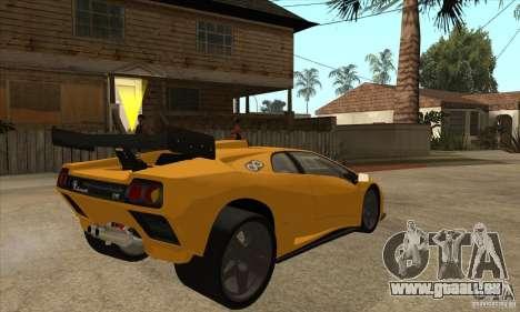 Lamborghini Diablo GT-R pour GTA San Andreas vue de droite