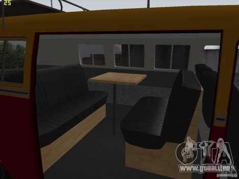 Volkswagen Transporter T1 Camper für GTA San Andreas Rückansicht