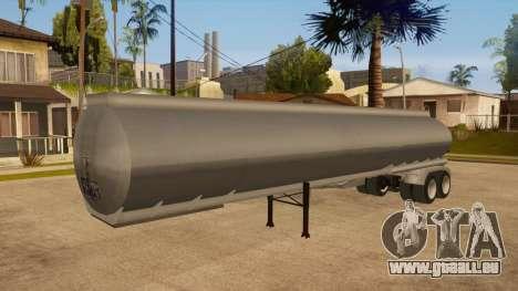 Citerne semi-remorque pour GTA San Andreas vue de côté