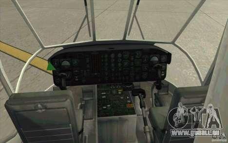 Sikorsky CH-54 Tarhe für GTA San Andreas rechten Ansicht