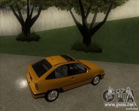 Chevrolet Kadett GSi 2.0 (1991-1995) pour GTA San Andreas laissé vue