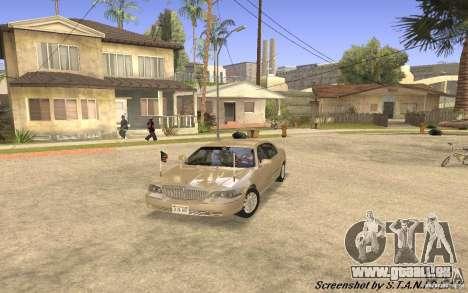 Lincoln Towncar Secret Service pour GTA San Andreas laissé vue