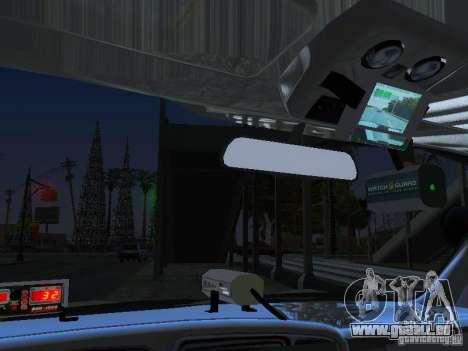Chevrolet Suburban Los Angeles Police pour GTA San Andreas vue intérieure