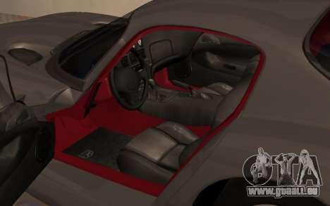 Dodge Viper GTS Tunable pour GTA San Andreas vue arrière