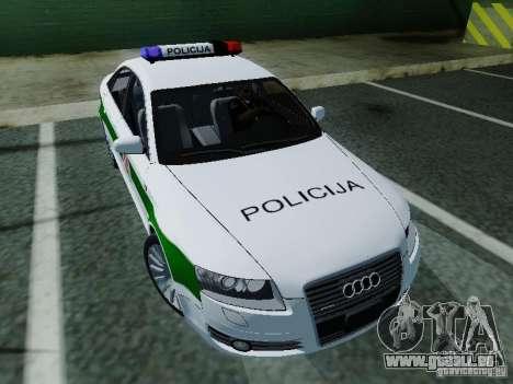 Audi A6 Police für GTA San Andreas Rückansicht